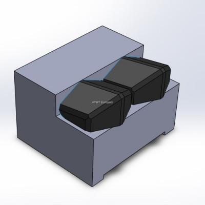 Duratech, HD8/10 ja TG2009/3010 -yhteensopiva terä kahdella kovametallikärjellä