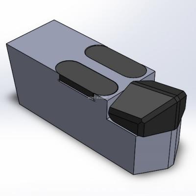 Duratech -yhteensopiva terä kahdella kovametallipalalla ja kovametallikärjellä. M16-pultilla kiinnitys.