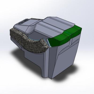 F-A-E -yhteensopiva terä 2HM premium quality + 4 CGP -kerrosta, kiinnitys M20-pultilla