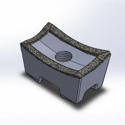 Komptech -yhteensopiva terä neljällä karbidikerroksella