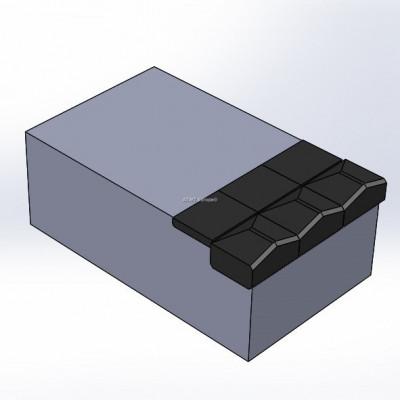 Morbark V mill 1500 yhteensopvia terä, 6 kovametallikärkeä