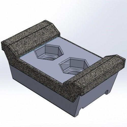 Morbark -yhteensopiva terä, Tub Grinder 1200 XL, 6 karbidikerrosta