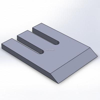 Hakkurin terä, sopii tuotteeseen Komptech, Chippo, 36°, 172x230x18, 30