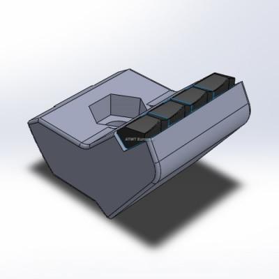 Husmann HF V/VI/Z -yhteensopiva terä neljällä kovametallikärjellä