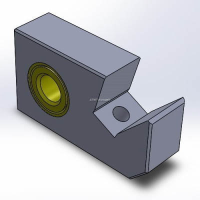 Husmann, HF IV -yhteensopiva teräsatula, pieni (35mm)