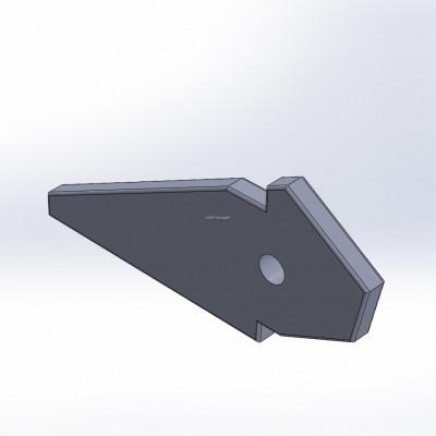 Komptech Crambo -yhteensopiva Bio-hammas Hardox 400